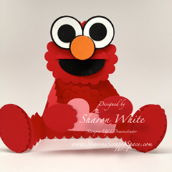 Elmo Punch Art Card