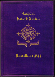 The Catholic Record Society Miscellanea XII | eBooks | Reference