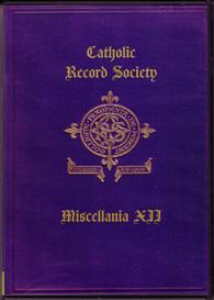 The Catholic Record Society Miscellanea XII | eBooks | Reference