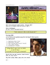 SLUMDOG MILLIONAIRE, Whole-Movie English (ESL) Lesson | eBooks | Education
