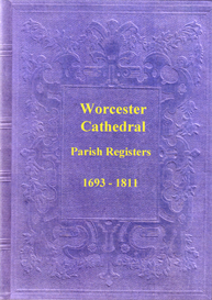 the parish registers of worcester cathedral, in worcestershire.