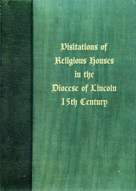 visitations of religious houses in the diocese of lincoln