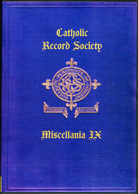 The Catholic Record Society Miscellanea IX. | eBooks | Reference