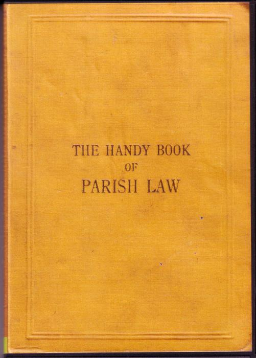 First Additional product image for - The Handy Book of Parish Law