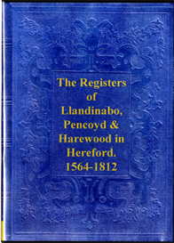 parish registers of llandinabo, pencoyd and harewood in hereford