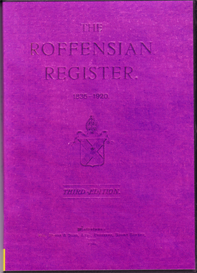 The Roffensian Register, 1835-1920 | eBooks | Reference