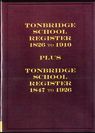 Tonbridge School Register 1826 to 1910 | eBooks | Reference