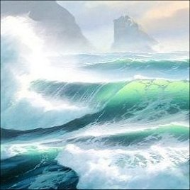 painting the breaking wave