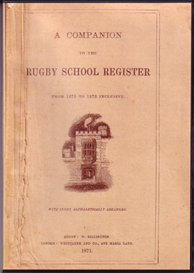 A Companion to the Rugby School Register From 1675-1870. | eBooks | Reference