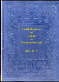 parish registers of lesbury in northumberland