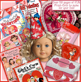 american girl valentine fun stuff e-booklet
