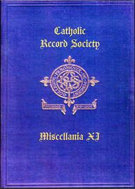The Catholic Record Society Miscellanea XI | eBooks | Reference