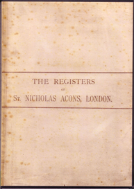 The Parish Registers of St Nicholas Acons, 1539-1812 | eBooks | Reference