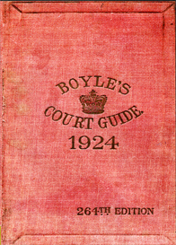Boyle's Fashionable Court & Country Guide & Town Visiting Directory Corrected for May 1924 (264th Edition) | eBooks | Reference