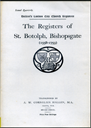 The Parish Registers of St. Botolph, Bishopsgate (1558-1753) | eBooks | Reference