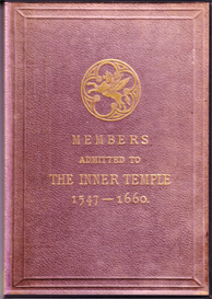 Members Admitted to the Inner Temple 1547 - 1660 | eBooks | Reference