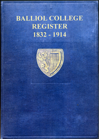 Balliol College, Register, 1832-1914. | eBooks | Reference