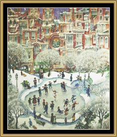 City Skaters - Cross Stitch Patterns | Crafting | Cross-Stitch | Other