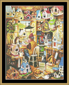The Birdhouse Man - Cross Stitch Pattern | Crafting | Cross-Stitch | Other