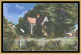 Roses House - Varant  Cross Stitch Pattern | Crafting | Cross-Stitch | Other