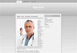 Light Gray Joomla 2.5 Template