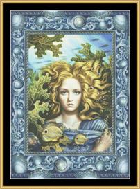 mermaid - cross stitch pattern