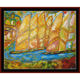 Sailing Ships - Dan Scharf cross stitch pattern by Cross Stitch Collectibles | Crafting | Cross-Stitch | Wall Hangings