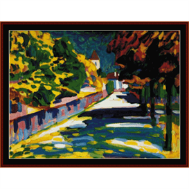 Autumn in Bavaria - Kandinsky cross stitch pattern by Cross Stitch Collectibles | Crafting | Cross-Stitch | Wall Hangings