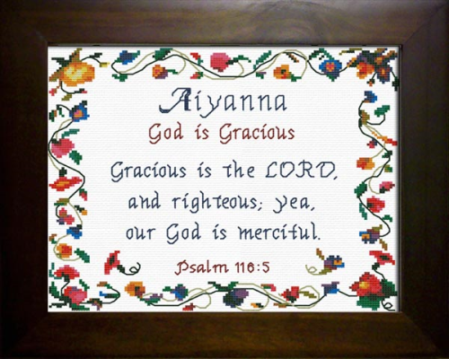 First Additional product image for - Name Blessings - Aiyanna