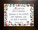 Name Blessings - Aiyanna | Crafting | Cross-Stitch | Religious