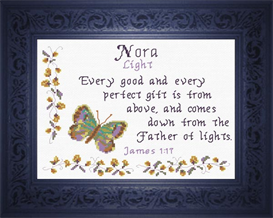 Name Blessings - Nora | Crafting | Cross-Stitch | Religious
