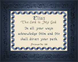Name Blessings - Elias | Crafting | Cross-Stitch | Religious