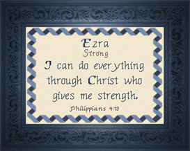 Name Blessings - Ezra | Crafting | Cross-Stitch | Religious
