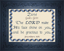 Name Blessings - Zane | Crafting | Cross-Stitch | Religious