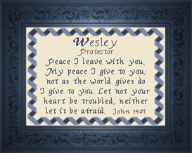 Name Blessings - Wesley | Crafting | Cross-Stitch | Other