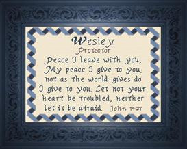 name blessings - wesley