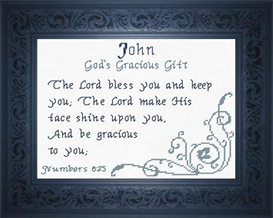 Name Blessings - John 2 | Crafting | Cross-Stitch | Religious