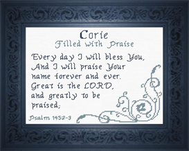 Name Blessings - Corie | Crafting | Cross-Stitch | Religious