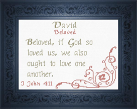 Name Blessings - David 3 | Crafting | Cross-Stitch | Religious
