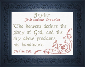 Name Blessings - Skylar | Crafting | Cross-Stitch | Religious