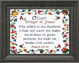 Name Blessings - oliver | Crafting | Cross-Stitch | Religious