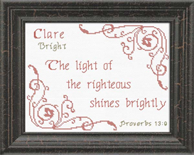 Name Blessings - Clare 2 | Crafting | Cross-Stitch | Religious