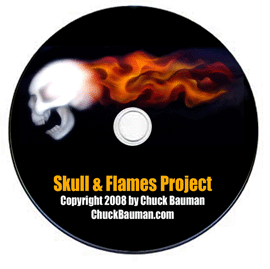 skull & flames airbrushing project
