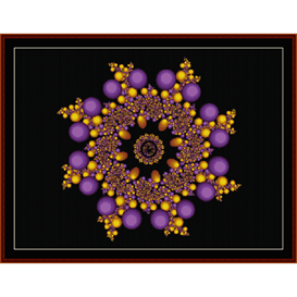 fractal 337 cross stitch pattern by cross stitch collectibles
