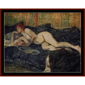 Reclining Nude -  Lautrec cross stitch pattern by Cross Stitch Collectibles | Crafting | Cross-Stitch | Wall Hangings
