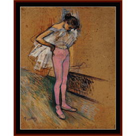 Dancer Adjusting her Tights - Lautrec cross stitch pattern by Cross Stitch Collectibles | Crafting | Cross-Stitch | Wall Hangings