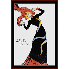 Jane Avril - Lautrec cross stitch pattern by Cross Stitch Collectibles | Crafting | Cross-Stitch | Wall Hangings
