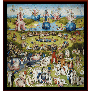 garden of earthly delights (center) - bosch cross stitch pattern by cross stitch collectibles