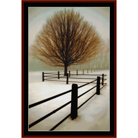 solitude - nature cross stitch pattern by cross stitch collectibles