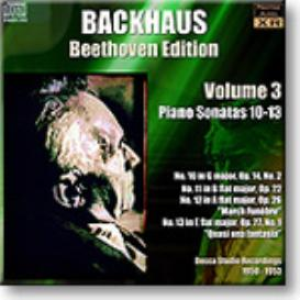 BACKHAUS Beethoven Edition Volume 3 - Sonatas 10-13, Ambient Stereo MP3 | Music | Classical